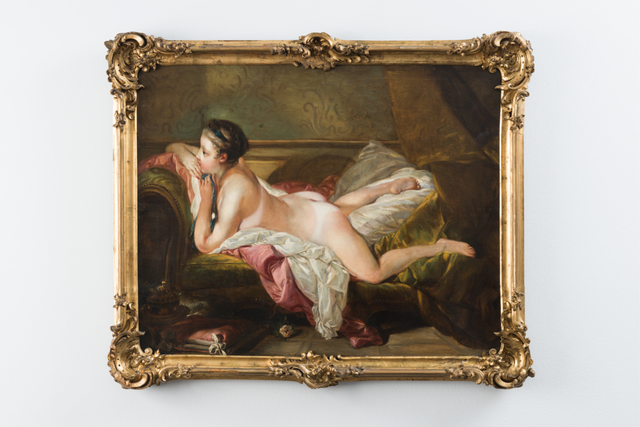 , 'Painting, nude lying on her stomach with tan lines, after Boucher,' , Galerie Mehdi Chouakri