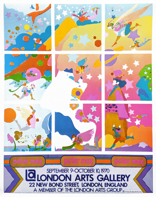 Peter Max, 'LONDON ARTS GALLERY POSTER', 1970, Gallery Art