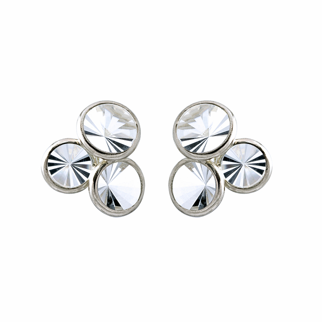 , ' Prism-Cut Rock Crystal White Gold Triple Stud Earrings,' 2013, Szor Collections