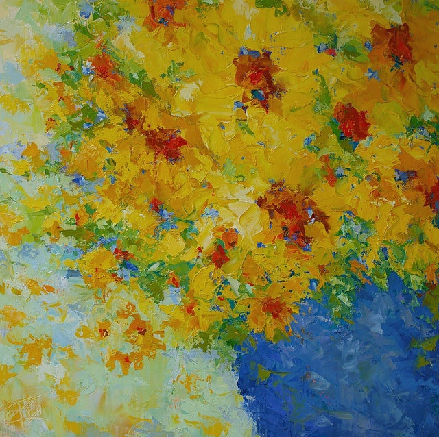 , 'Vibrant Sunflowers,' , Gallery 901