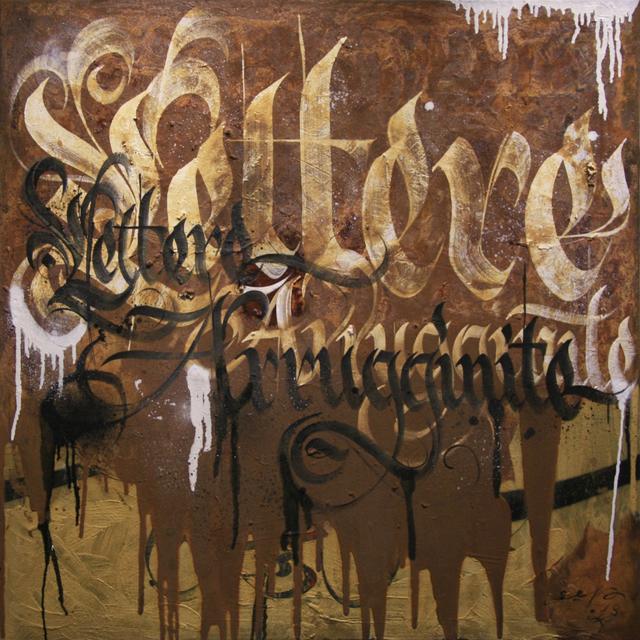 , 'Rusty letters,' 2018, Galleria Quadrifoglio