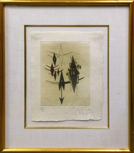 Wifredo Lam, 'CROISEUR NOIR II', 1972, Print, ETCHING ON JAPANESE PAPER, Gallery Art
