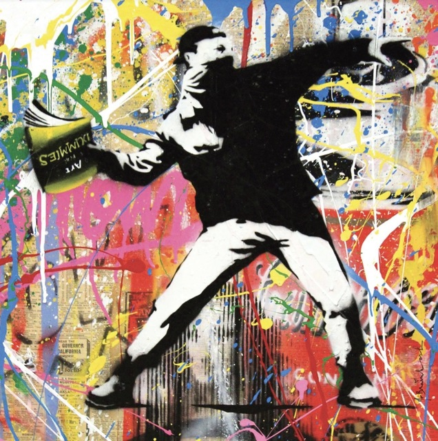 Mr. Brainwash, 'Banksy Thrower', 2015, Contessa Gallery