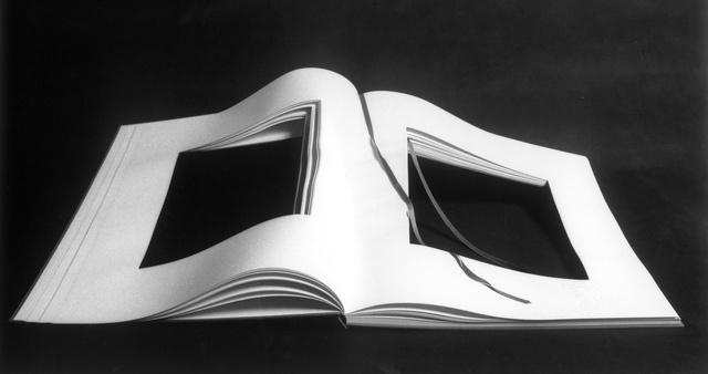 , 'copia di libro dimenticato a memoria aperto,' 1969, Galleria il Ponte