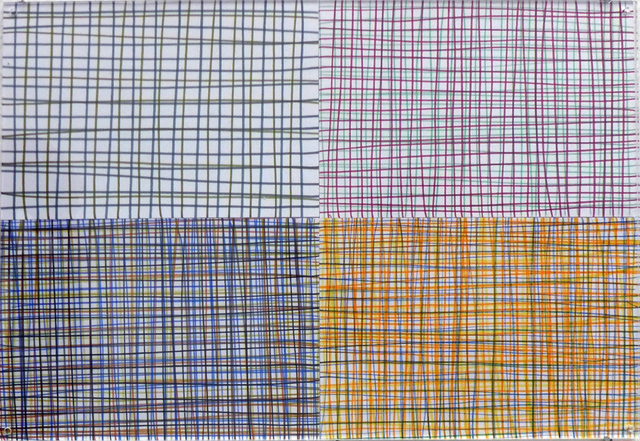, 'Drawings with squares (series of 4),' 2013-2015, Christine König Galerie