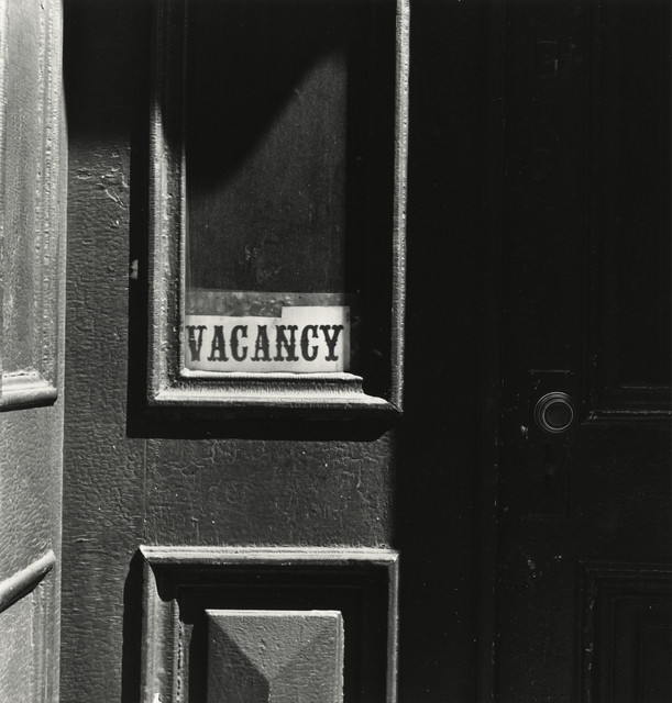 , 'Vacancy (with doorknob),' New York-1939, Pace/MacGill Gallery