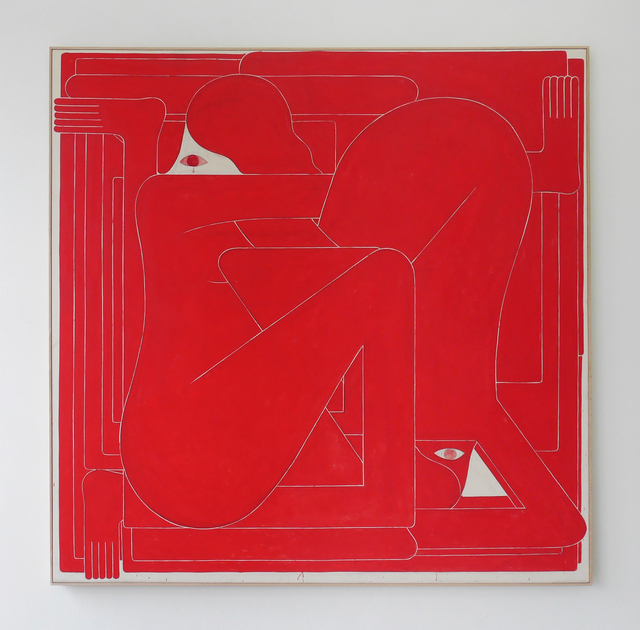 , 'Red Square (Two Figures),' 2017, V1 Gallery