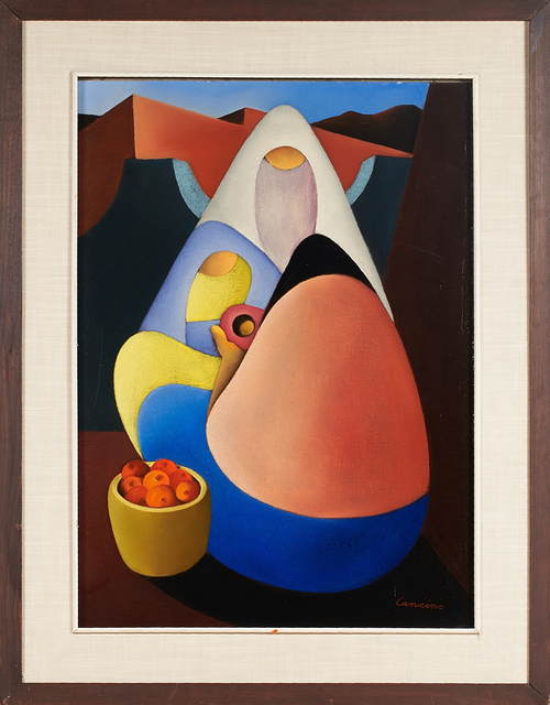 """Victor Manuel Cancino, '""""Matelmidad"""" And Untitled (Two Figures)', Painting, Two oils on canvas, one laid to board, Rago/Wright"""