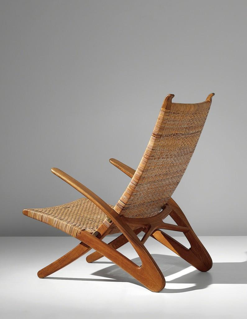 Rare 'Dolphin' folding armchair, model no. JH510