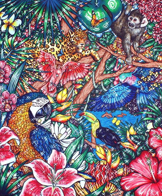 , 'Flamingo Lagoon 2,' 2017, Kolja Kramer Fine Arts