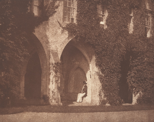 , 'The Ancient Vestry, Calvert Jones in The Cloisters at Lacock Abbey,' 1845, Robert Klein Gallery