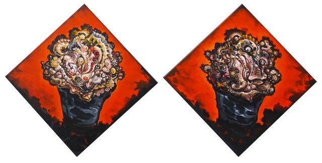 , 'Lambíes (Diptych) ,' 2016, Lyle O. Reitzel