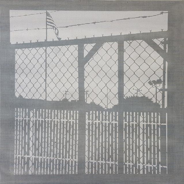 Elizabeth Ferrill, 'Illusion #4', 2018, Print, Rubylith screen print on wire mesh, Michael Warren Contemporary