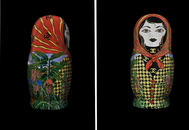 ", 'Matryoshka XXLarge ""UNDEFEATED"" feat. Rousseau for Chanel,' 2019, Galerie de Bellefeuille"