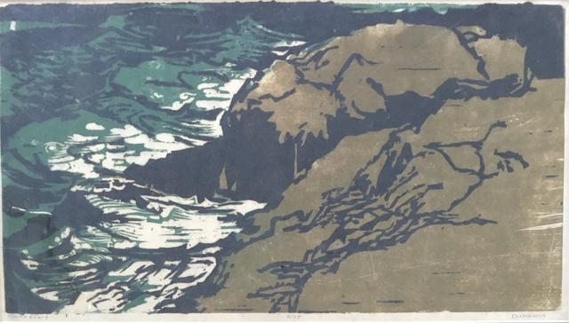 , 'Rocks & Surf,' Late 20th c., Bakker Gallery