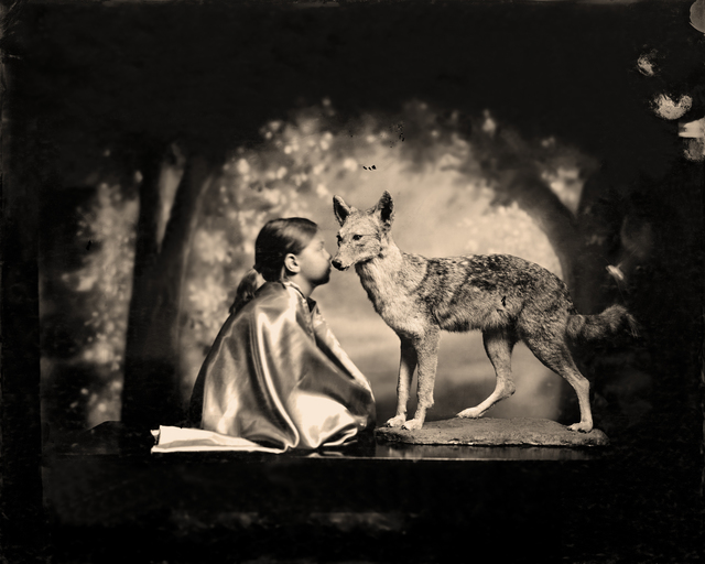 , 'Conversation with a Coyote,' 2012, Etherton Gallery