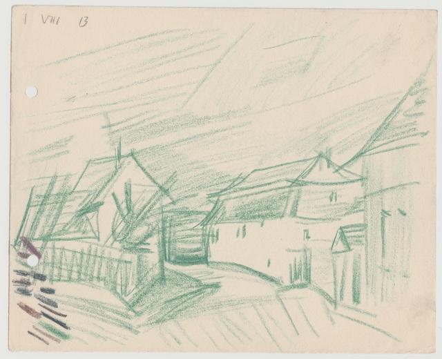 , 'Dorfstrasse, Niedergrunstedt,' 1913, Henze & Ketterer