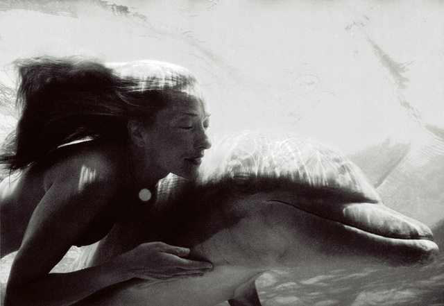 Nomi Baumgartl, 'Connected, Tatjana Patitz and Cayla, Dolphins', 2000, Photography, Archival pigment print, Ira Stehmann Fine Art Photography