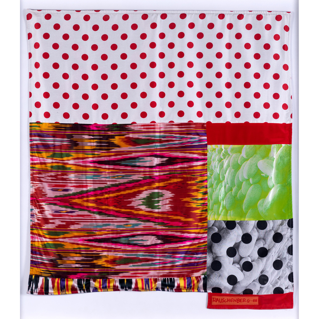 Robert Rauschenberg, 'Samarkand Stitches #VII de la série Samarkand Stitches', 1988, Print, Screenprint in colors on Ikat silk frabric, PIASA