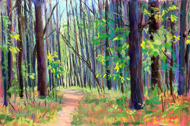 Takeyce Walter, 'Day 9: Among the Pines', February 2020, Painting, Pastels, Keene Arts