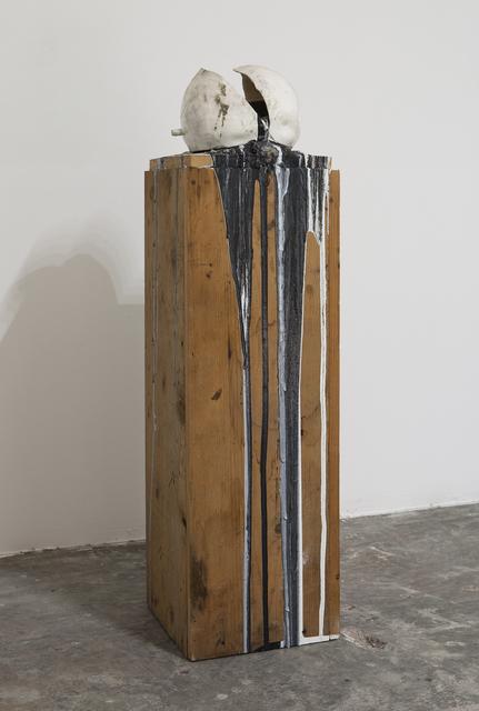 , 'Imploded Ball Barf (black and white),' 2011, Nina Johnson