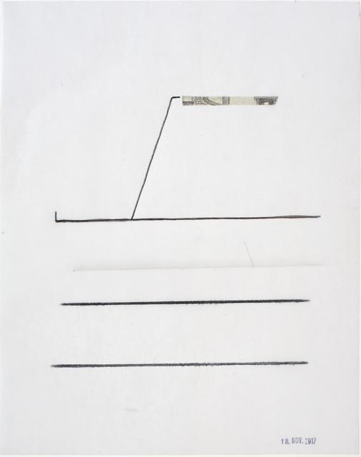 , 'Linie mit Bildausschnitt, stamped 18 Nov 2017,' 2017, Galerie Heike Strelow