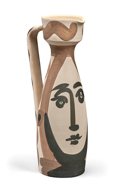 Pablo Picasso, 'Visage (A.R. 288)', 1955, Design/Decorative Art, Painted and partially glazed (interior only) white ceramic pitcher, Doyle