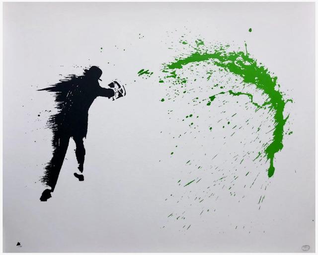 Nick Walker, 'Paint Chucker (Green)', 2015, Print, 2 Color Screen print on Fine Art Paper, Artsy x Forum Auctions