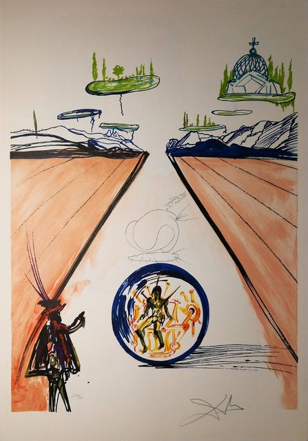 Salvador Dalí, 'Intra-Uterine Paradisiac Locomotion', 1975, Drawing, Collage or other Work on Paper, Original Etching + Lithograph, Dali Paris