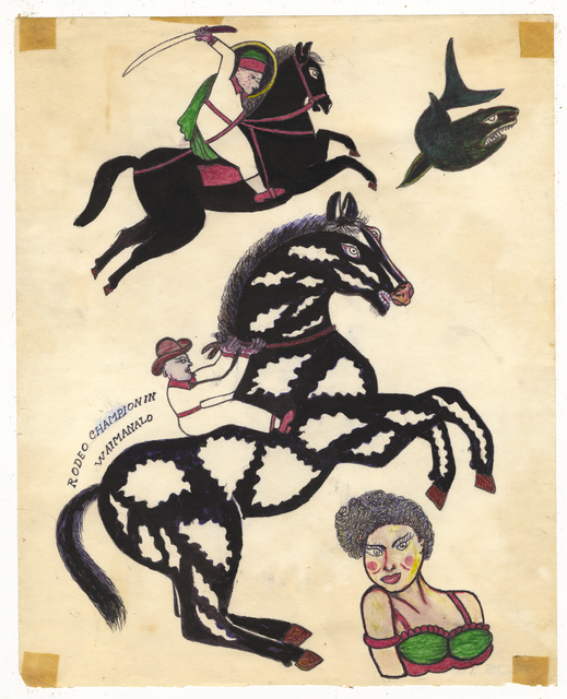 , 'Untitled (Cowboy and Swordsman on Horseback),' ca. 1950, Ricco/Maresca Gallery
