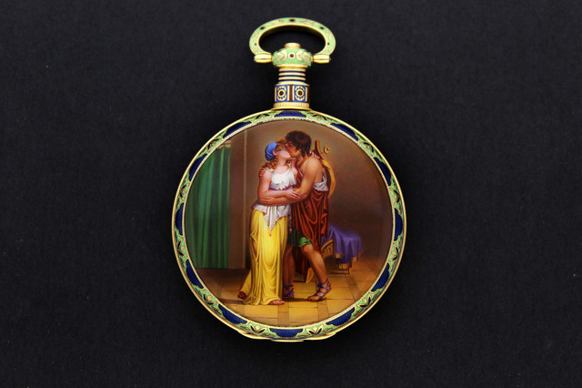 , ''Apollo's Embrace' - Enamel Pocket Watch,' ca. 1820, Somlo London