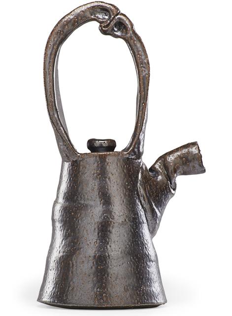 Ken Ferguson, 'Large teapot with sculptural handle, Shawnee Mission, KS', 1970s, Rago