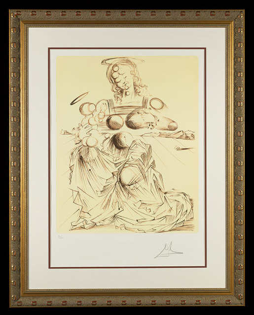 "Salvador Dalí, '""Disintegrating Mother and Child""  Hand Signed Salvador Dali Lithograph ', 1941-1957, Elena Bulatova Fine Art"