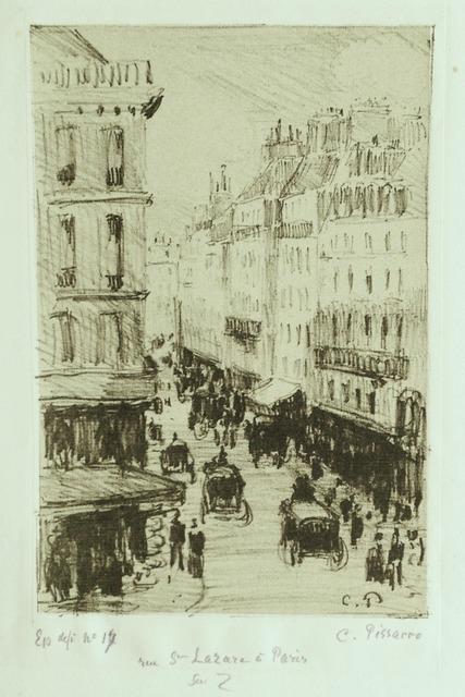, 'Rue Saint-Lazare à Paris,' 1897, Harris Schrank Fine Prints