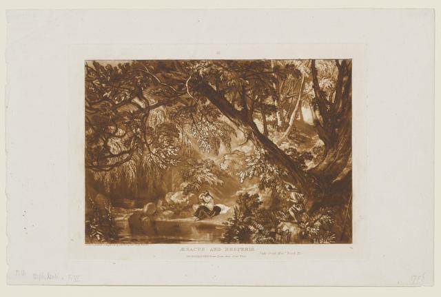 J. M. W. Turner, 'Æsacus and Hesperie plate 66 from Liber Studiorum', 1819, Clark Art Institute