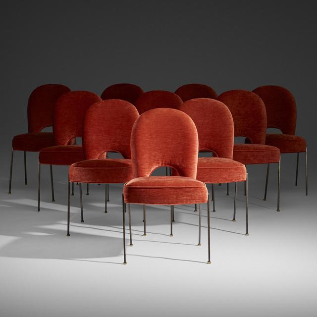 Jean Leleu, 'dining chairs, set of ten', c. 1960, Wright