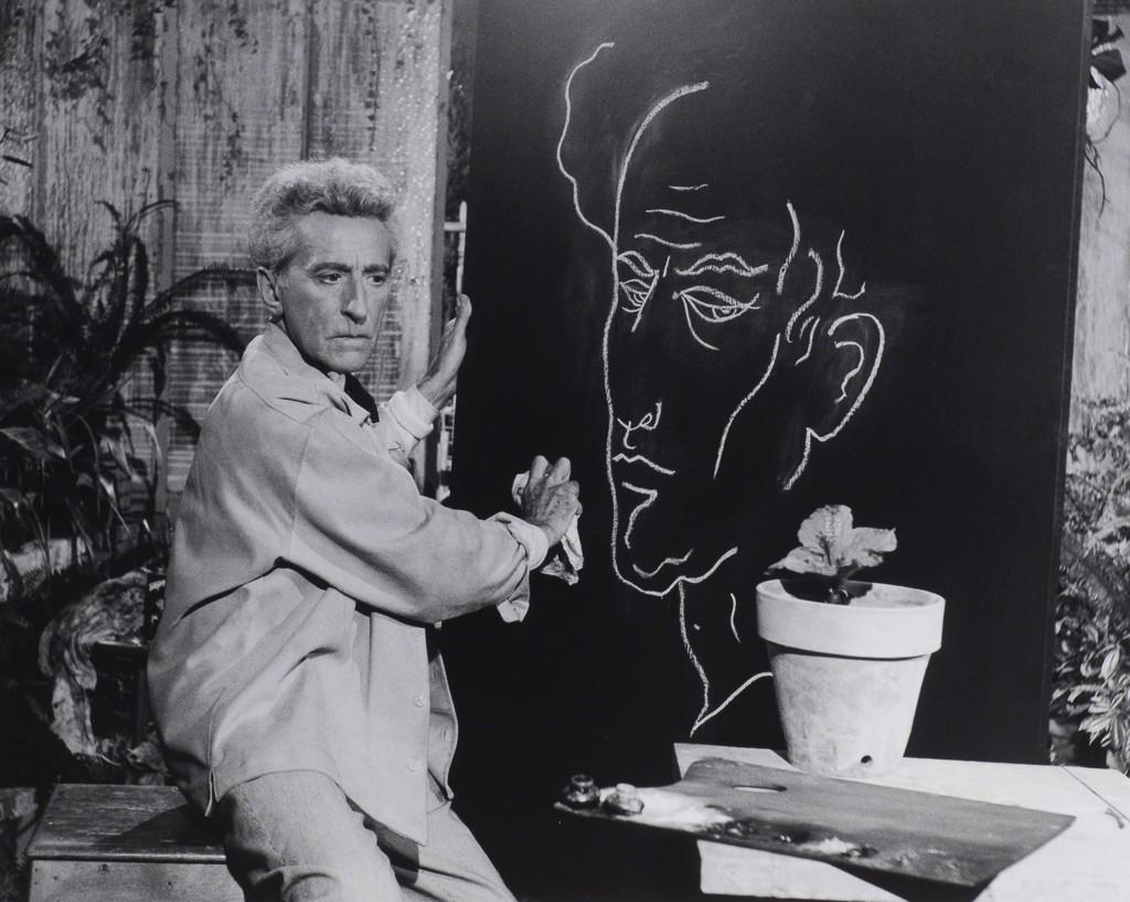Jean Cocteau (Le Poete) et son Autoportrait, Studios de la Victorin