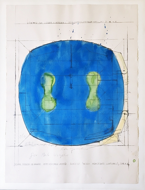 Ron Gorchov, 'Untitled mixed media, inscribed to Robert Vogele', 1978, Alpha 137 Gallery