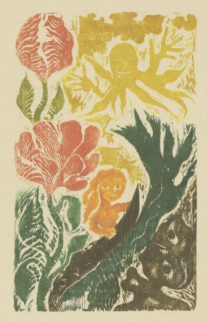 Ken Kiff, 'Woman, Waves and Flowers', 1991, Sworders