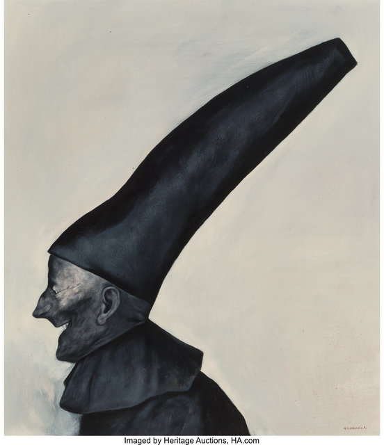 Rafael Coronel, 'Untitled (Man with hat)', Painting, Oil on board, Heritage Auctions
