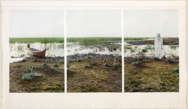 Meridel Rubenstein, 'Ehmad and His Boat, Central Marshes', Brian Gross Fine Art