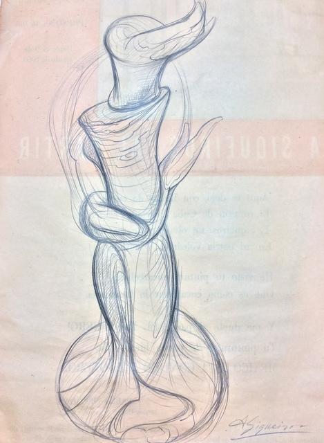 David Alfaro Siqueiros, 'Boceto para escultura pintura Antorcha', Galerie AM PARK