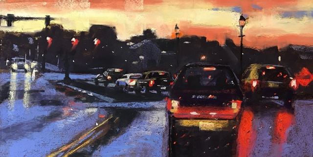 , 'Heading Downtown,' 2019, Copley Society of Art