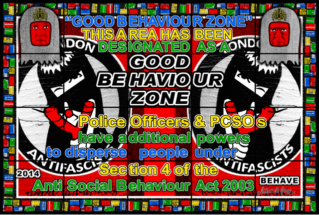 Gilbert and George, 'BEHAVE', 2014, A3 Arndt Art Agency