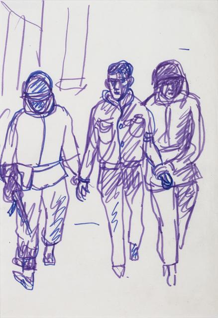 """Antonio Berni, 'Sin Título (Militante detenido). De la serie """"Mexico 68""""', ca. 1968, Cosmocosa"""
