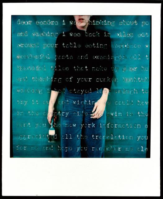 Barbara Astman, 'Untitled (Dear Sandra), Thinking About You...', 1979, Corkin Gallery