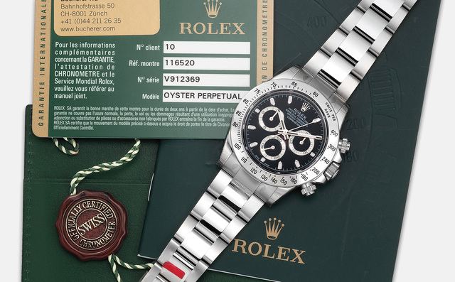 Rolex, 'A fine stainless steel chronograph wristwatch with bracelet, guarantee and hang tag', Circa 2009, Phillips