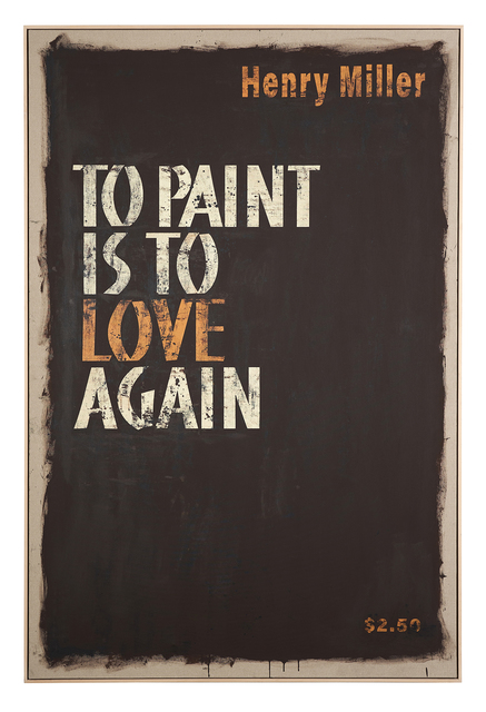 , 'Cover #32 (To Paint is to Love Again, Henry Miller),' 2018, Christopher Grimes Projects