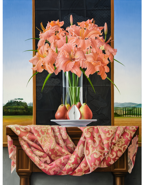 , 'Still Life with Daylilies and Pears,' 2014, Clark Gallery