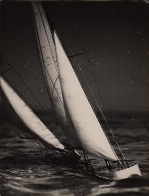 Lyonel Feininger, 'Model yachts under sail on the baltic', 1930, Photography, Gelatin silver print, Jörg Maass Kunsthandel